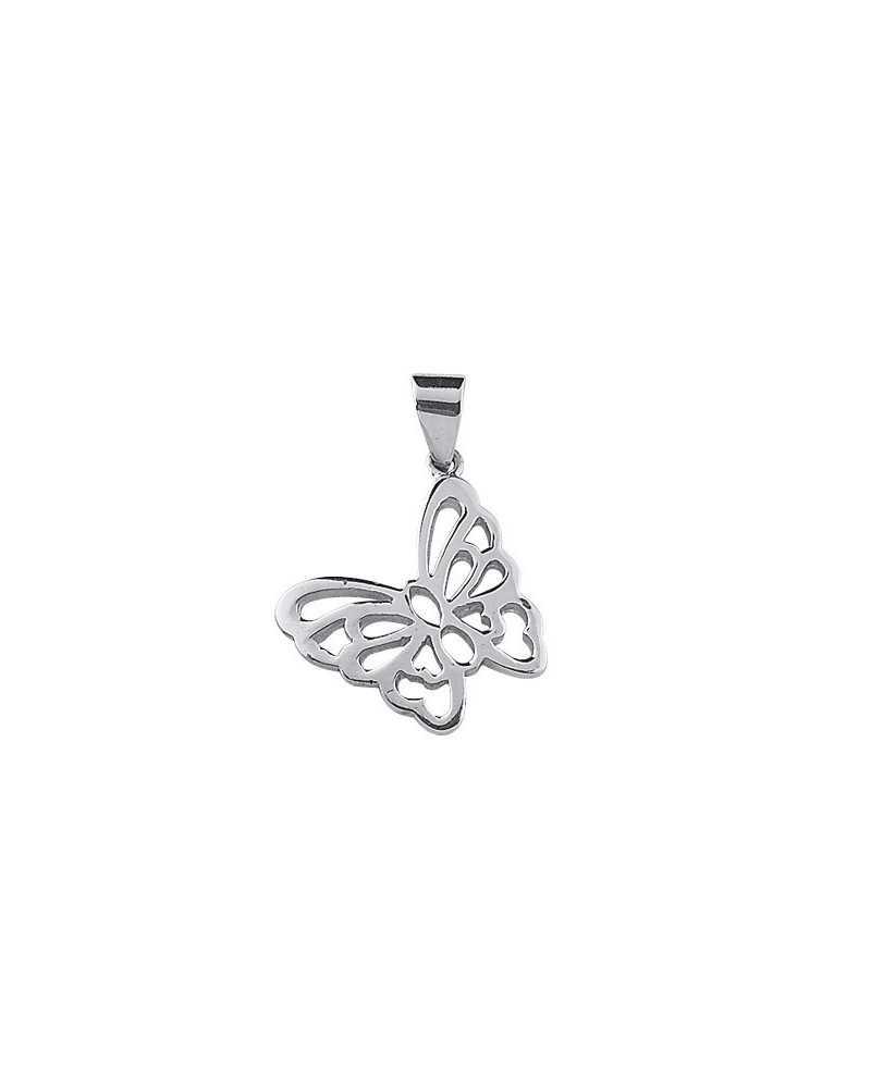 Pendentif papillon en argent ,bijou original
