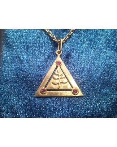 pendentif triangle accasia