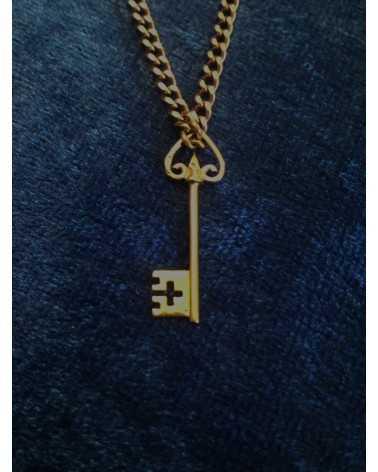 pendentif clef de st pierre en or