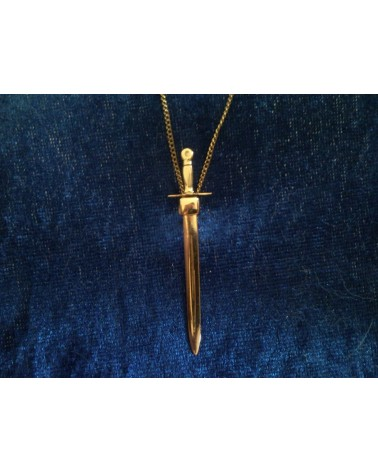 Bijou médiéval - pendentif épée or