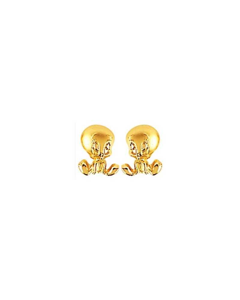 boucles d'oreilles titi or
