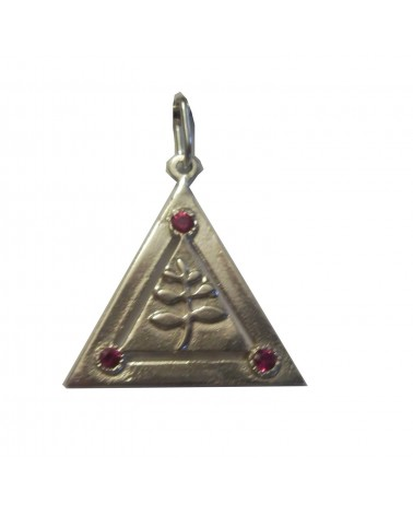 pendentif triangle feuille acacia