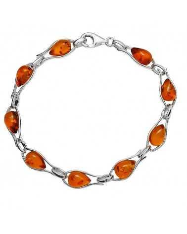 Bracelet Ambre Argent 925/1000