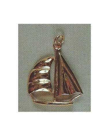 pendentif bateau en or